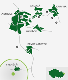 OKD Frenštát Mine: area map